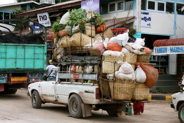 Ein typisch beladener Kleintransporter
