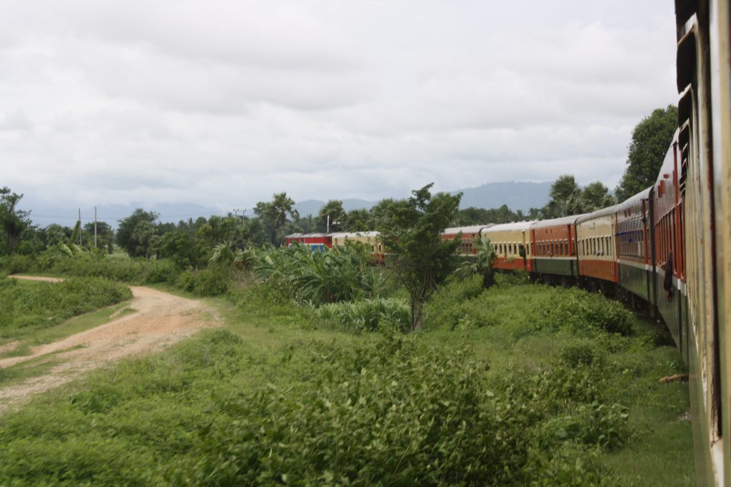 train journey through Burma