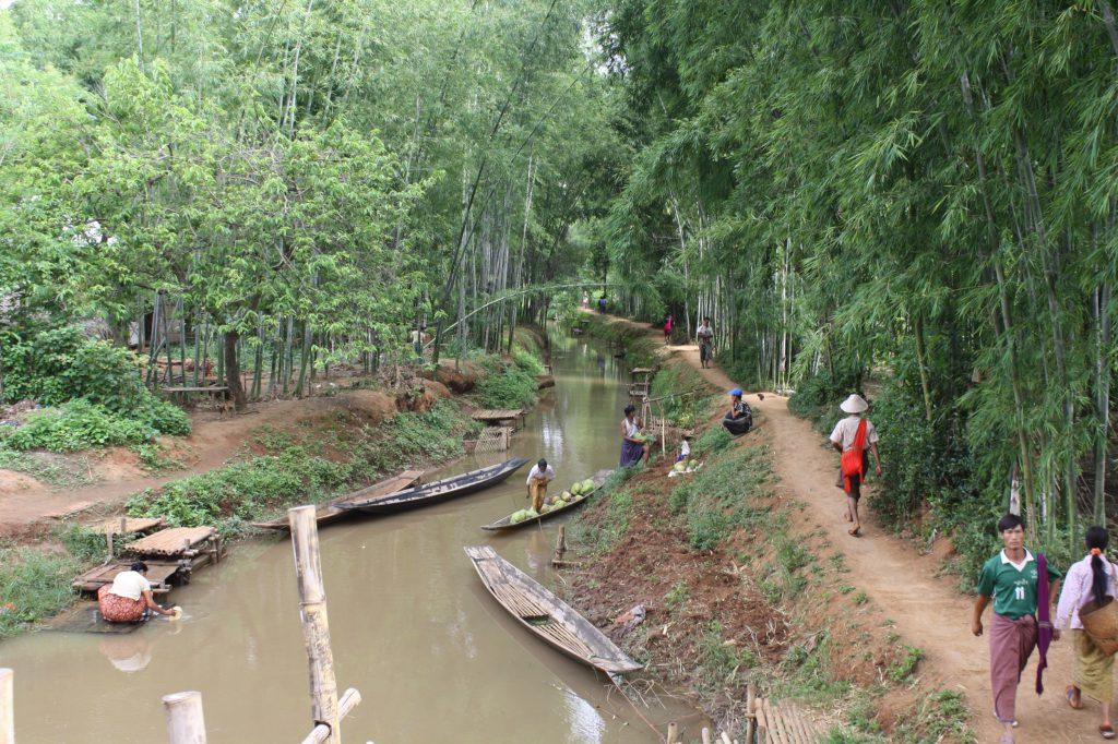 Alltag auf dem Land in Burma